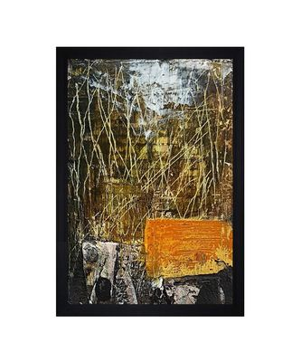 "ABSTRACT ORIGINAL OIL ART PRINT ""Textured Paper (Scratch/Dust) Proof Framed Art Print"