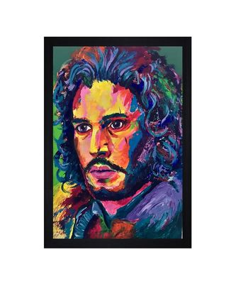 "JON SNOW OIL ART PRINT ""Textured Paper (Scratch/Dust) Proof Framed Art Print"