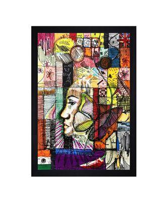 """INDIAN OIL ARTIST PRINT """"Textured Paper (Scratch/Dust) Proof Framed Art Print"""