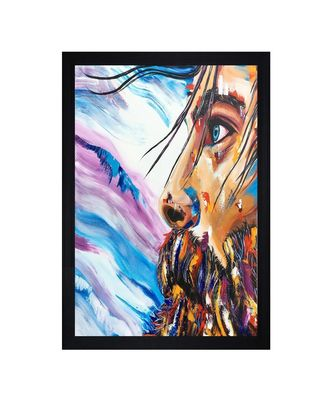 "THE FACE OIL PRINT ""Textured Paper (Scratch/Dust) Proof Framed Art Print"