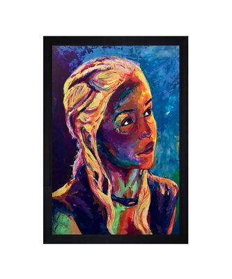 """Daenerys Targaryen PRINT """"Textured Paper (Scratch/Dust) Proof Framed Art Print"""
