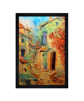 "MONUMENTAL OIL PRINT ""Textured Paper (Scratch/Dust) Proof Framed Art Print"