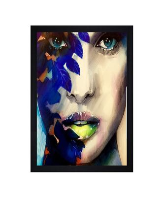 "Multicolor Abstract Face Potrait ""Textured Paper (Scratch/Dust) Proof Framed Art Print"