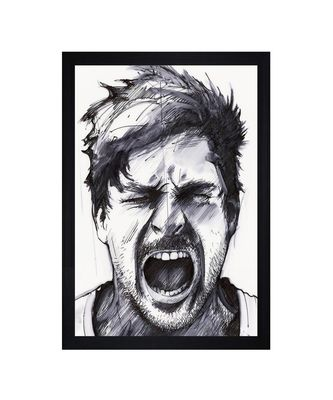 """Freaky Man"""" Textured Paper (Scratch/Dust) Proof Framed Art Print"""