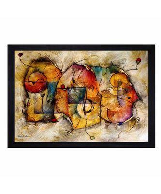 """Abstract ART"""" Textured Paper (Scratch/Dust) Proof Framed Art Print"""