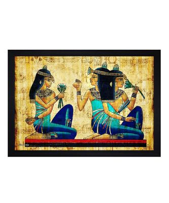 "Abstract Egyptian Art"" Textured Paper (Scratch/Dust) Proof Framed Art Print"