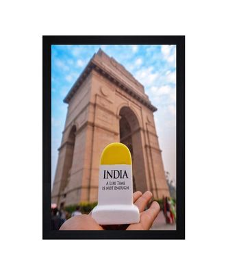 """India Gate Life Time is Not Enough Art"""" Textured Paper (Scratch/Dust) Proof Framed Art Print"""