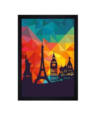 "Wonders of the World Art"" Textured Paper (Scratch/Dust) Proof Framed Art Print"
