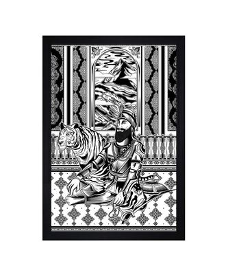 """Indian Traditional People Art"""" Textured Paper (Scratch/Dust) Proof Framed Art Print"""