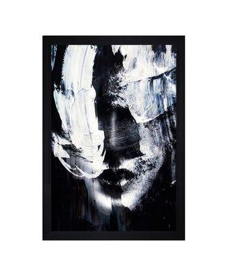 """Abstract Face Art"""" Textured Paper (Scratch/Dust) Proof Framed Art Print"""