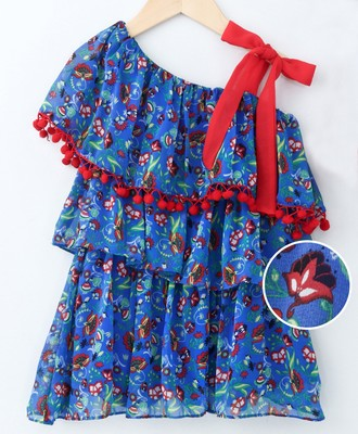 Royal Pretty Layered Printed Georgette Dress