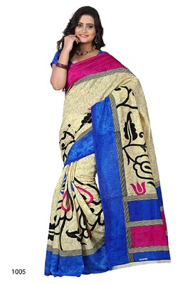Off white brasso jacquard saree with blouse