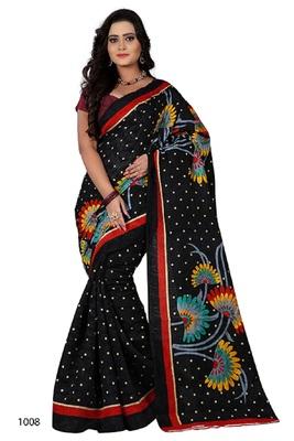 Black brasso jacquard saree with blouse