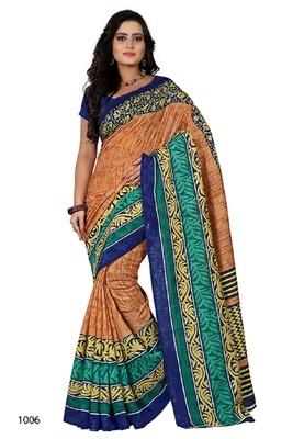 Light brown brasso jacquard saree with blouse