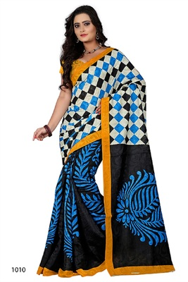 Multicolor brasso jacquard saree with blouse
