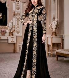 Black embroidered georgette salwar