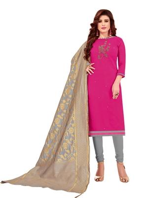 Pink mirror cotton salwar