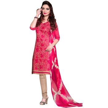 Pink embroidered cotton salwar