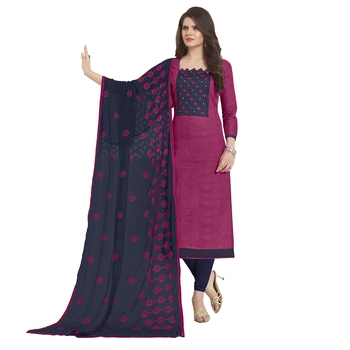 Purple Embroidered Jacquard Salwar