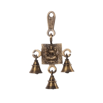 Goddess Laxmi Brass Hanging Bells