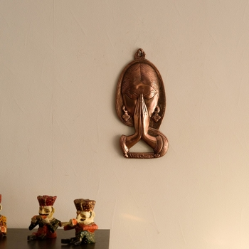 Welcome Lady Metal Wall Hanging