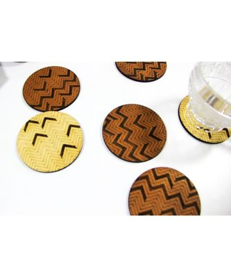 CHEVRON COASTER SET OF 6