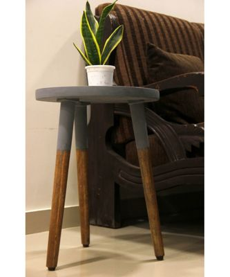 DIPPED SIDE TABLE - GREY