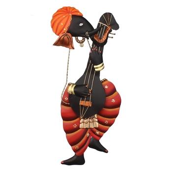 Lord Ganesha playing Sitar Wall Hanging