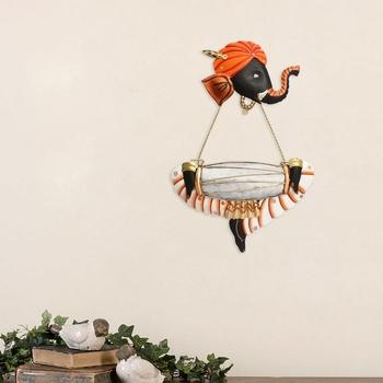 Musician Ganesha Playing Dholak Wall Hanging