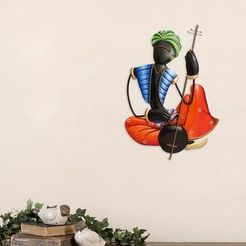Musician Tribal Man Playing Veena Wall Hanging