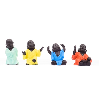 Handcrafted Set of 4 Meditating Buddha- For Home Deco