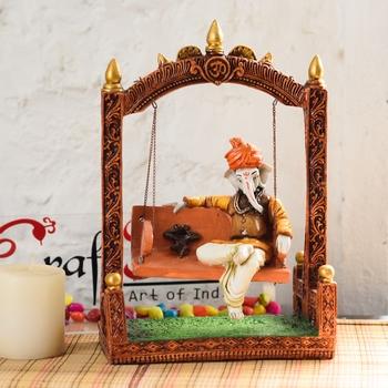 God Ganesha/ Ganpati / Lord Ganesha Idol - Statue Gift item Showpiece - 12 Inch