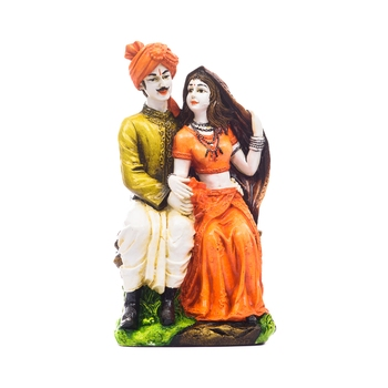 Handicraft Showpiece Home Decor Rajasthani Man and Women Statue Decorative Gift