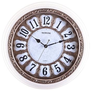 White,Golden Premium Designer Wall Clock( 44 cm X 44 cm)