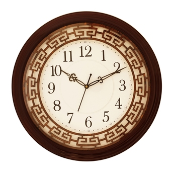 Rosewood round wooden analog wall clock(38 cm x 38 cm)
