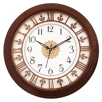 Cola Brown round wooden analog wall clock(33 cm x 33 cm)