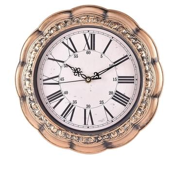 Decorative Analog Brown Wall Clock