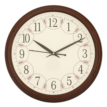 Rosewood round wooden analog wall clock(27.5 cm x 27.5 cm)