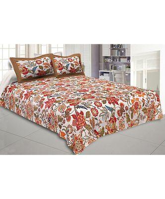 multicolor cotton floral print bed sheets