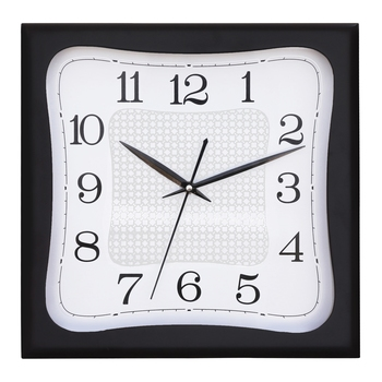 Black square wooden analog wall clock(28 cm x 28 cm)