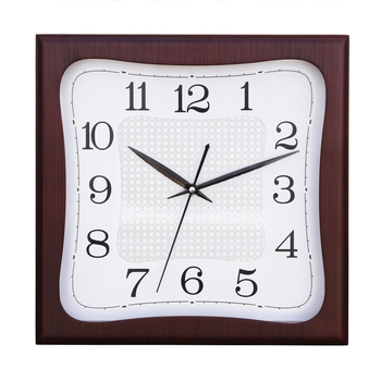 Cola Brown square wooden analog wall clock(28 cm x 28 cm)