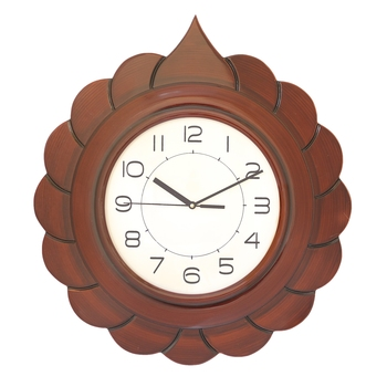 Rosewood round wooden analog wall clock(46 cm x 46 cm)