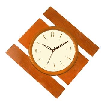 Brown kite wooden analog wall clock(40.5 cm x 40.5 cm)