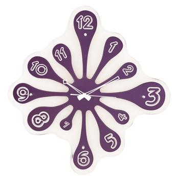 Violet vertical wooden analog wall clock(51.5 cm x 49.5 cm)