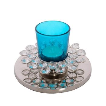 Fancy Flower Shape Crystal Tea Light Holder