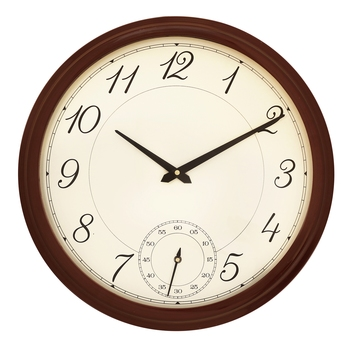 Rosewood round wooden analog wall clock(40.5 cm x 40.5 cm)