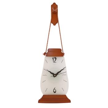 Brown vertical wooden analog wall clock(52 cm x 18 cm)