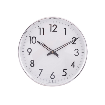 Decorative Retro Round Silver Wall Clock