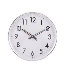Decorative Retro Round Silver Wall Clock