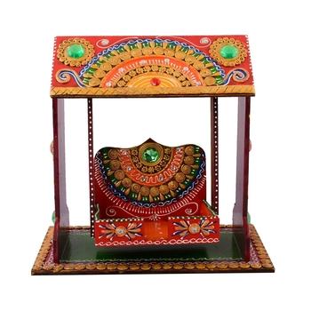 Decorative Papier-Mache work Wooden Jhula Temple